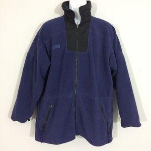 Columbia Mens XL Purple & Black Full Zip-up Fleece